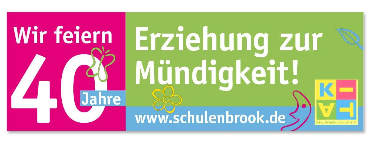 Werbedesign Bannerdesign für die Kita Schulenbrook