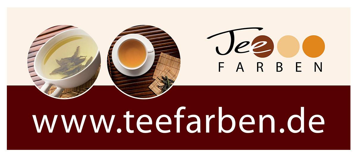 Werbedesign Bannerdesign für TeeFARBEN von Doris Peiter