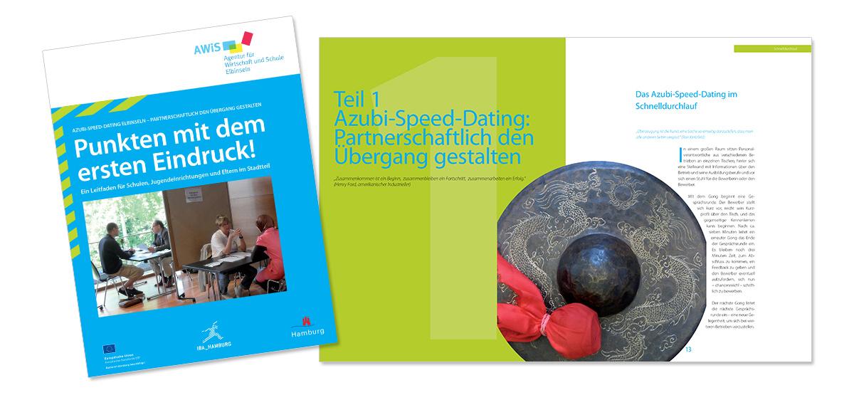 Flyerdesign, Faltblatt, Broschüre für IBA Internationale Bauausstellung von Doris Peiter