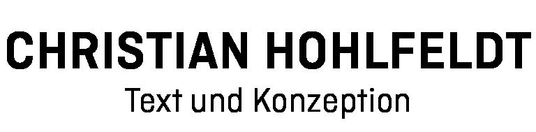 Logo Christian Hohlfeldt, Text und Konzeption