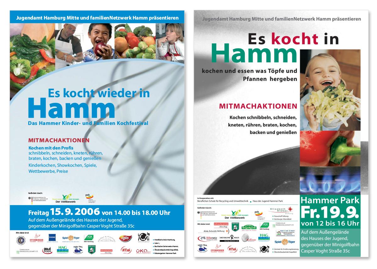 Werbedesign Plakatdesign zum Hammer Kinder- und Familienkochfestival von Doris Peiter