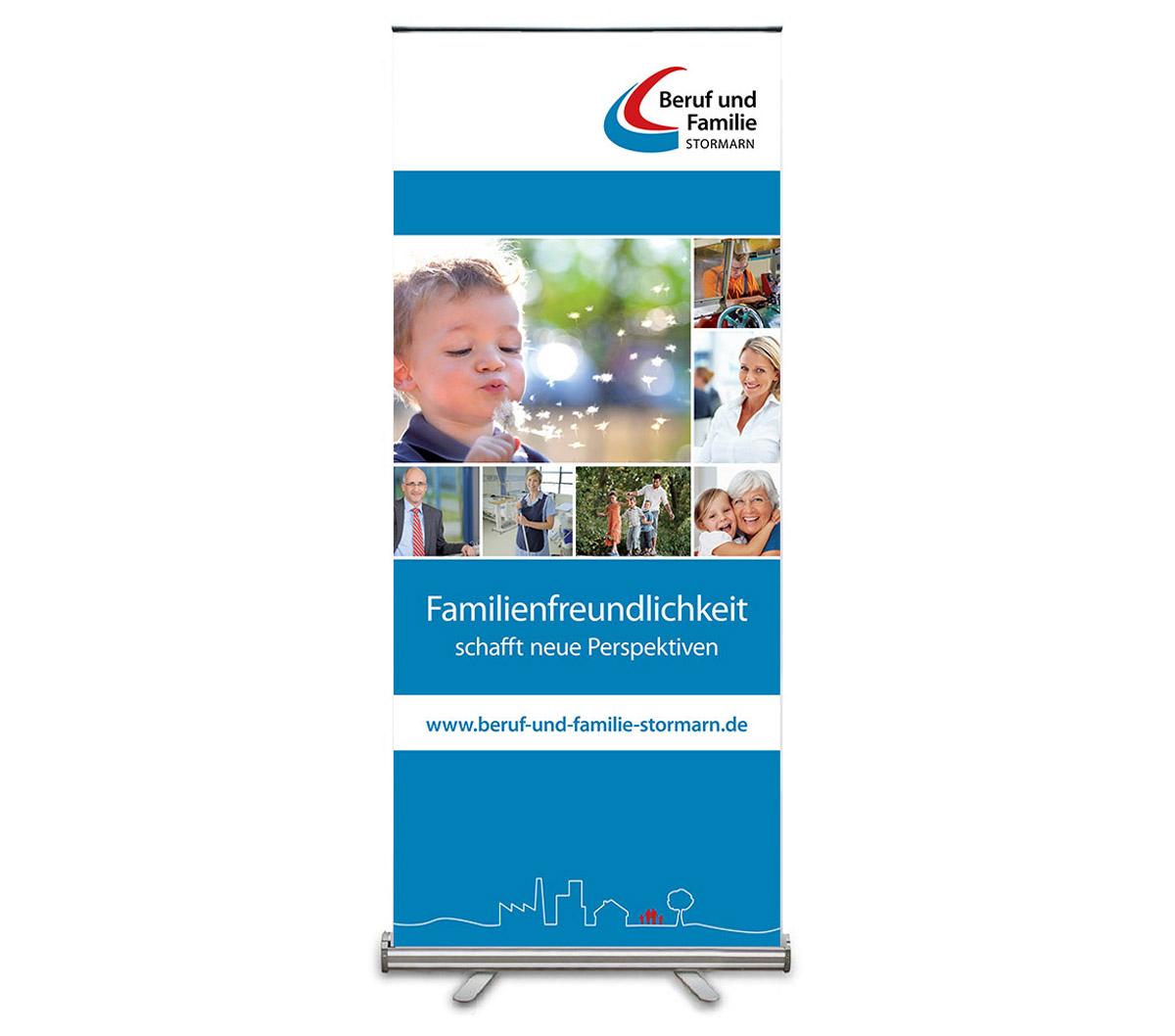 Werbedesign Bannerdesign für Stiftung Beruf und Familie Stormarn