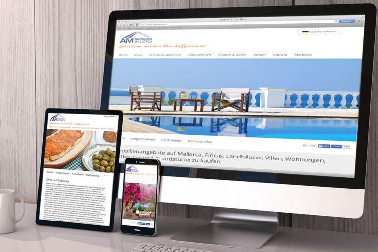 Webauftritt für AM Inmobiliaria gestaltet von Doris Peiter