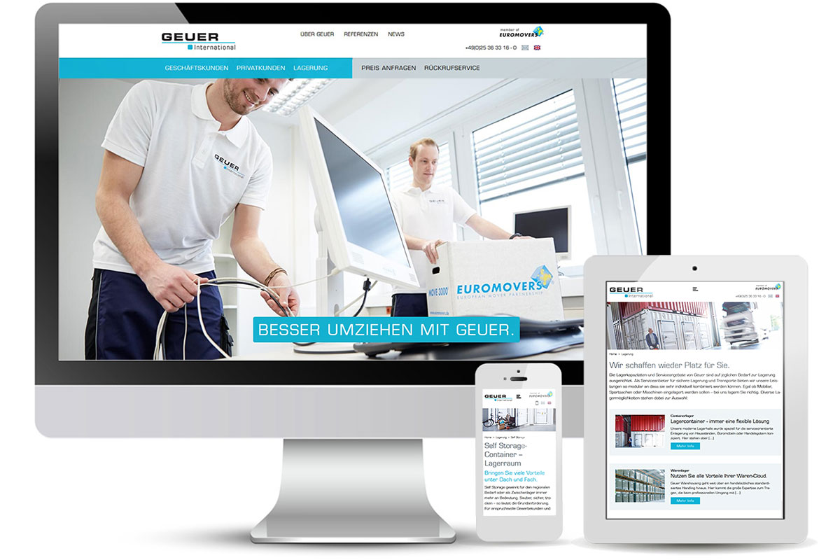 Webdesign, responsive Website,  Doris Peiter Internet und Printdesign
