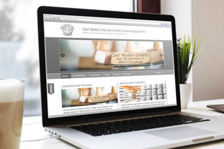 Webdesign für Carl Wolter GmbH von Doris Peiter