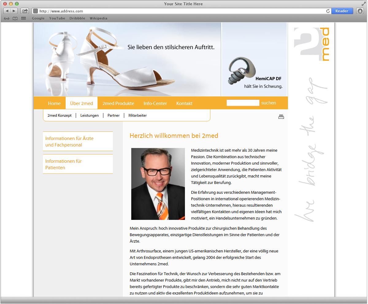 Webdesign für 2med