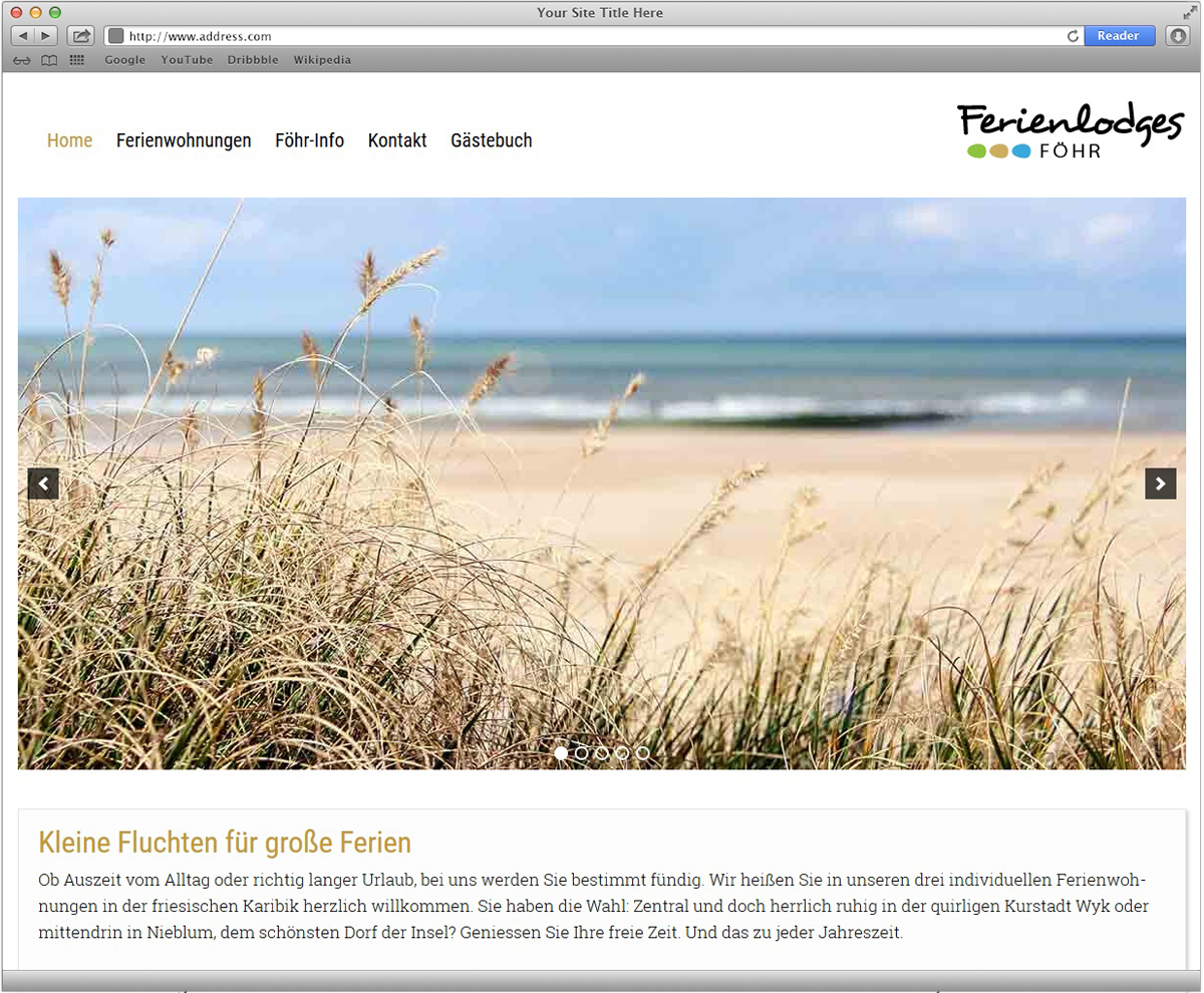 Gehen Sie karibische Website