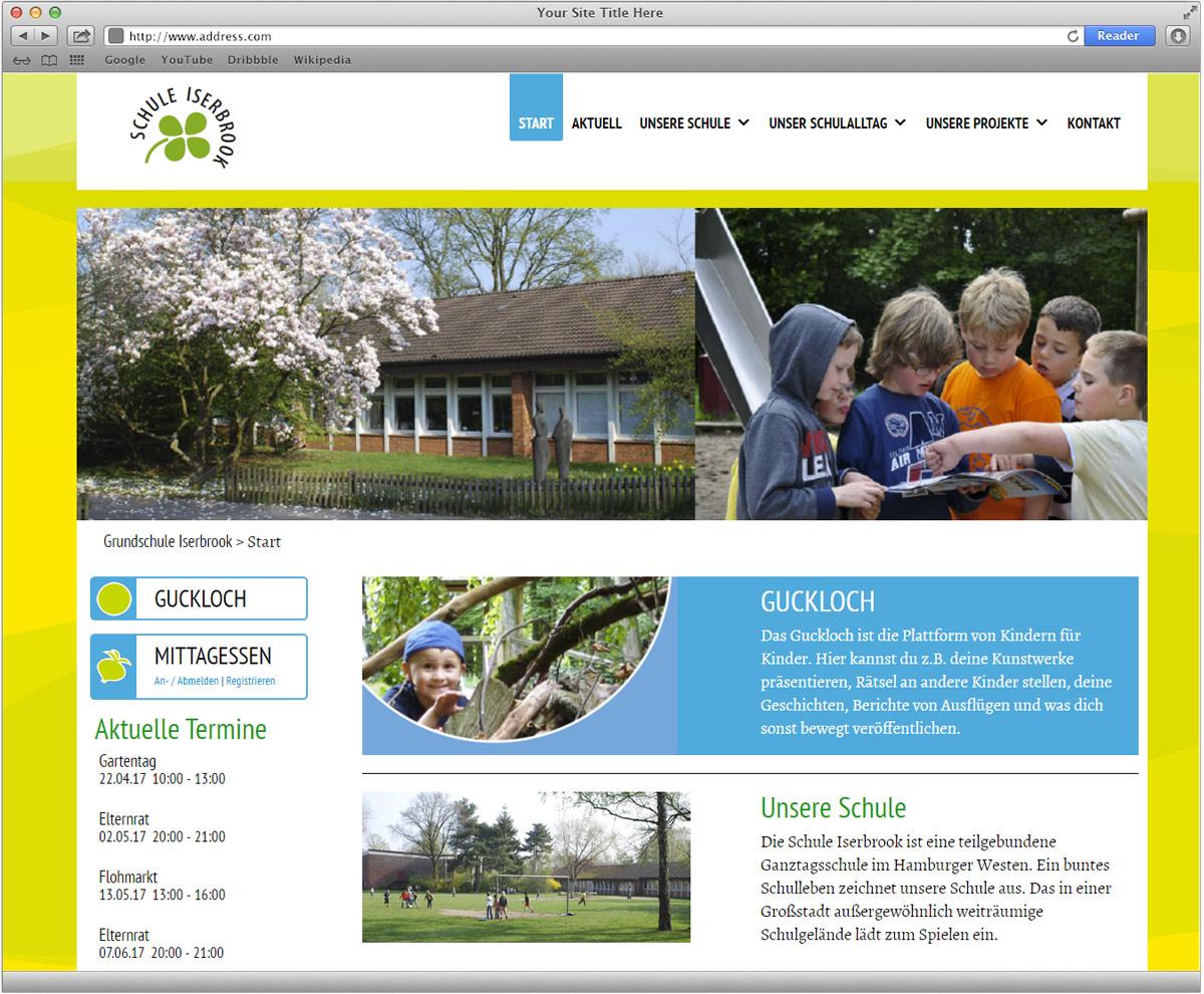 Internetauftritt Schule Iserbrook