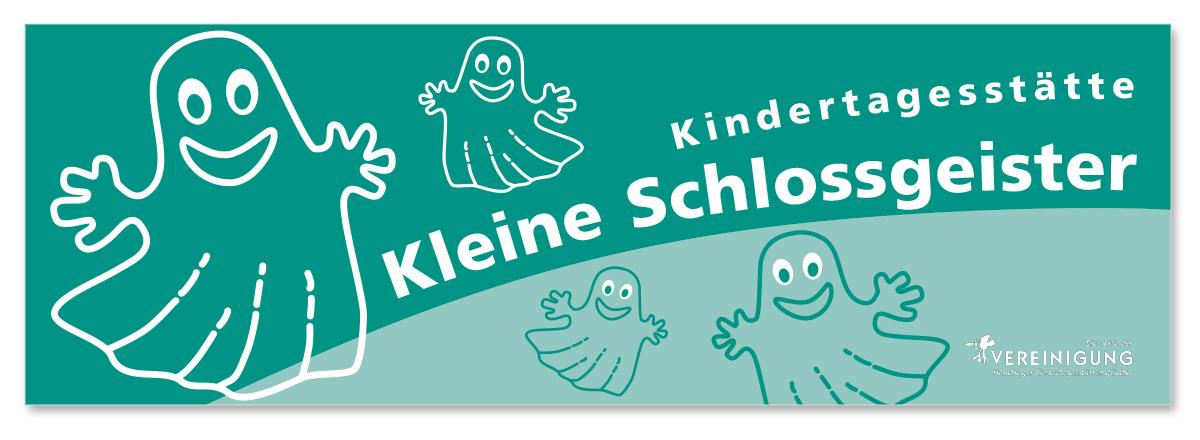 Werbedesign Bannerdesign für die Kita Kleine Schlossgeister von Doris Peiter