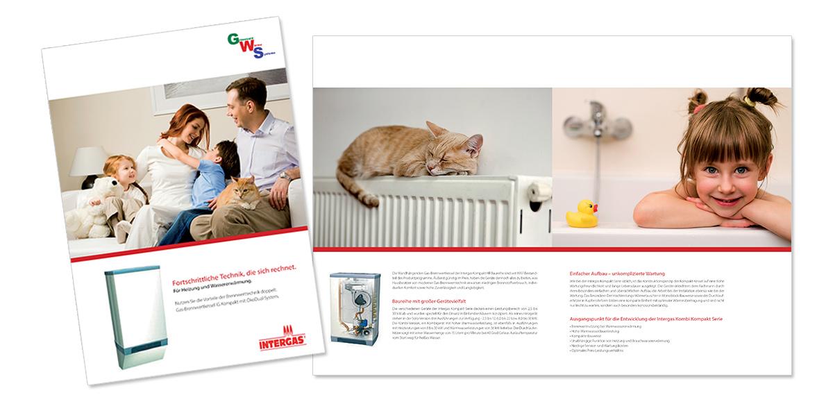 Flyerdesign, Faltblatt, Broschüre für GWS Grünewald von Doris Peiter