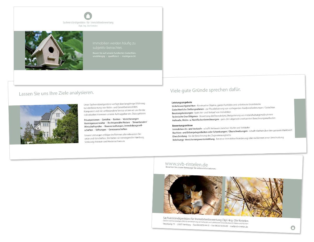 Flyerdesign, Faltblatt, Broschüre für SVB Rintelen von Doris Peiter