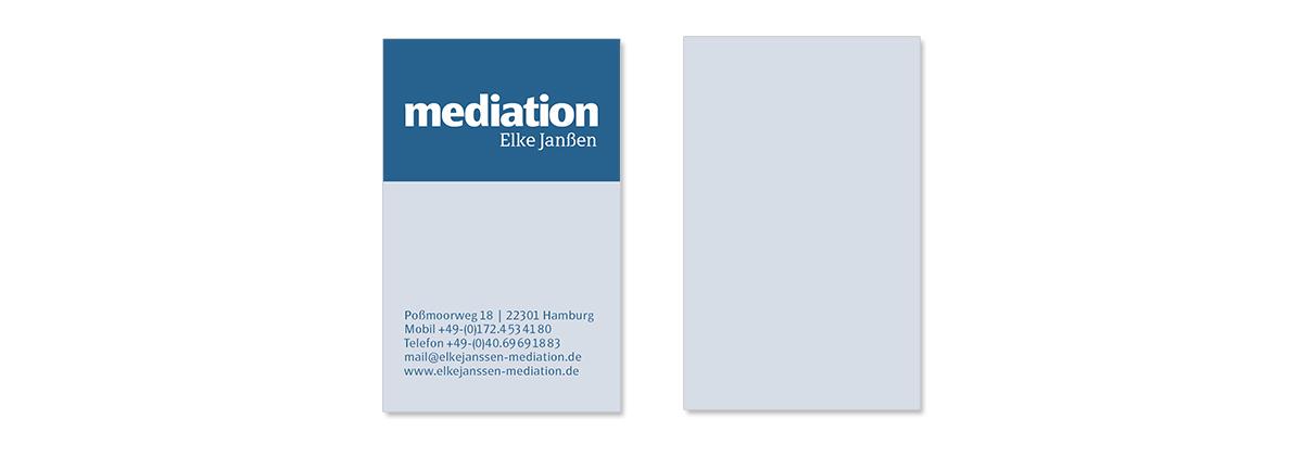 Geschäftsaustattung und Unternehmensdesign für Mediation Elke Janßen von Doris Peiter
