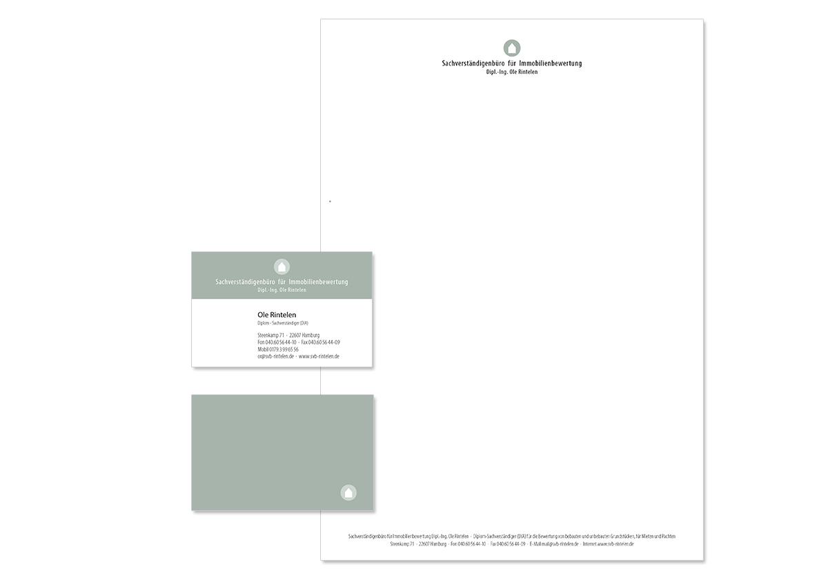 Geschäftsaustattung, Visitenkarte und Unternehmensdesign für das SVB Rintelen von Doris Peiter