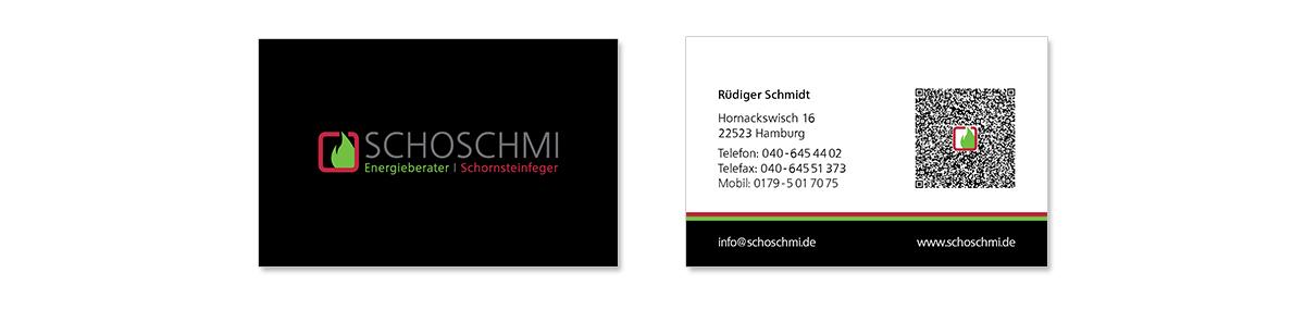 Geschäftsaustattung und Unternehmensdesign für Schoschmi Energieberater von Doris Peiter