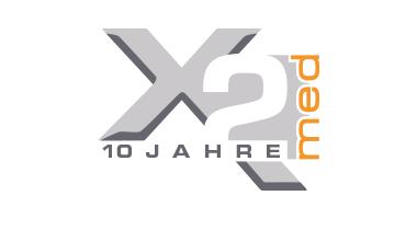 Jubiläumslogo, Logodesign für 2med von Doris Peiter