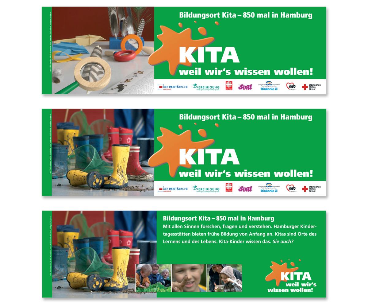 Werbedesign Bannerdesign für Kitas weil wirs wissen wollen! von Doris Peiter