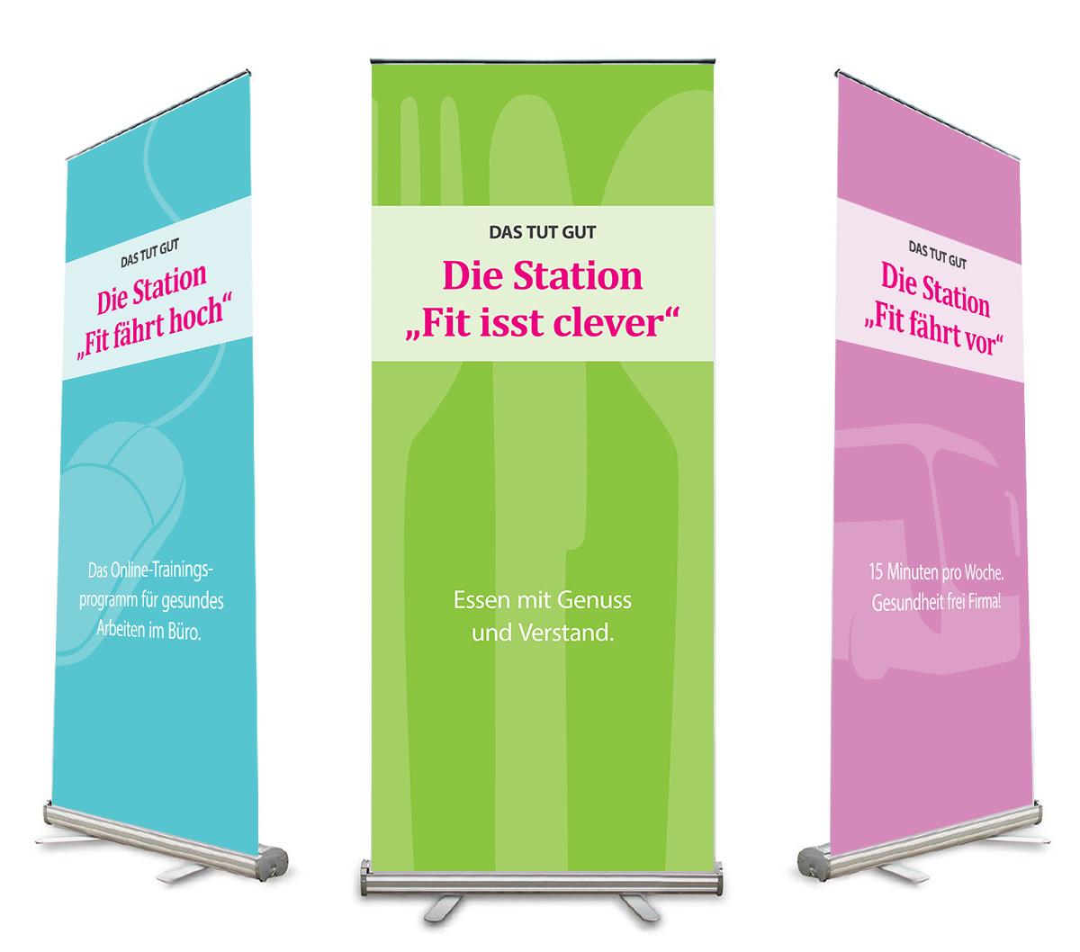 Roll-Up Banner, Werbedesign für Gesundheitsmobil GmbH von Doris Peiter