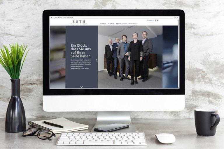Websitegestaltung für Soth Rechtsanwälte