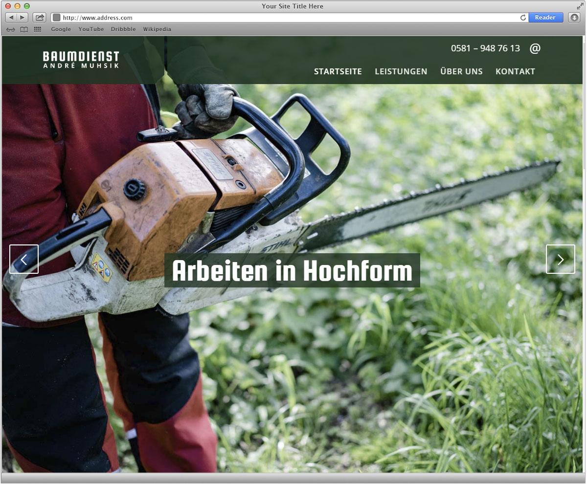Website Baumdienst Muhsik