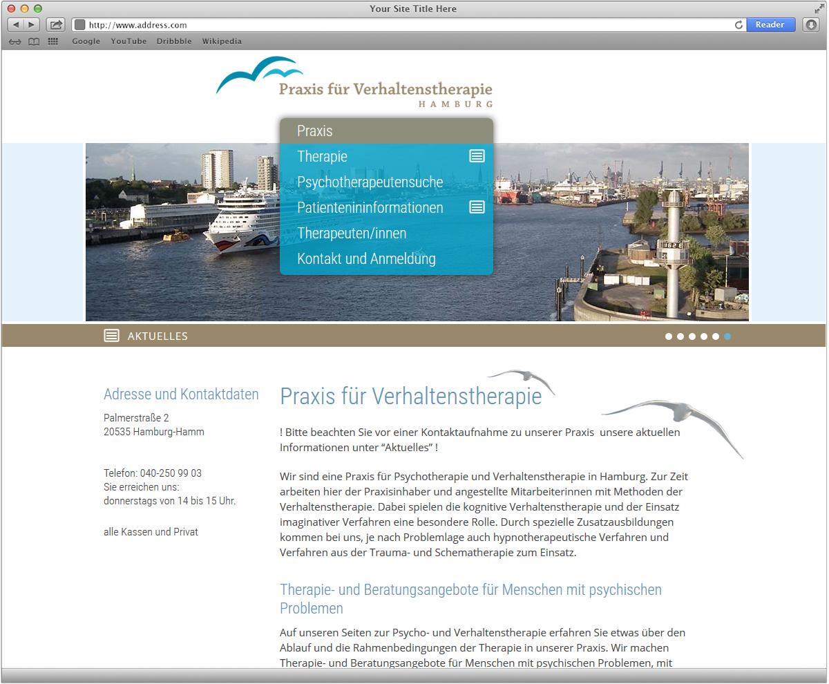 Webseite für Praxis für Verhaltenstherapie von Doris Peiter