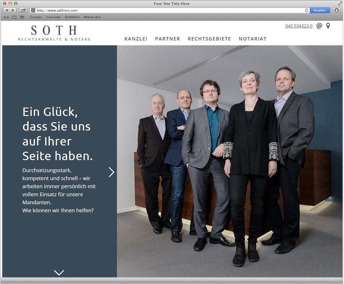 Websitegestaltung und Umsetzung für Soth Rechtsanwältee